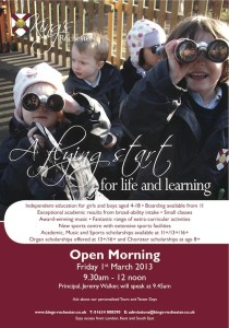 Kings open day nursery poster